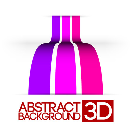 Abstract 3d rainbow colorful stripes vector background
