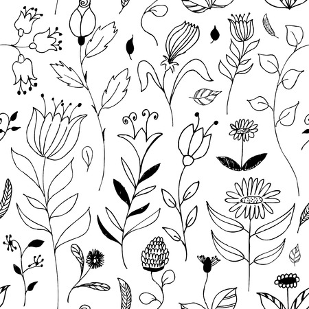 seamless floral doodle background