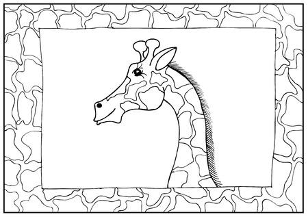 Vector giraffe border Illustration