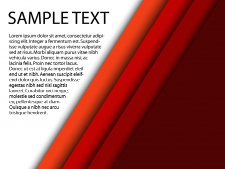 Abstract red background with custom text