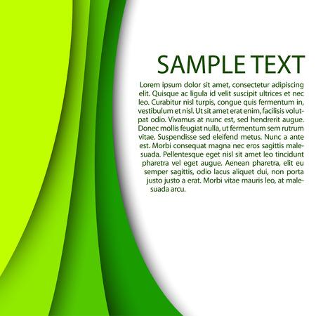 カスタム テキスト コピー スペースで抽象的な緑の背景