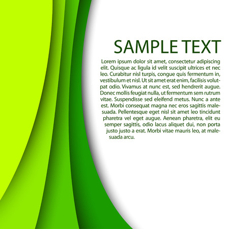Abstract green background with custom text copy space  Vectores