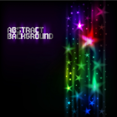 Abstract dark background with stars Vectores
