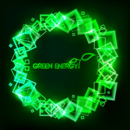 abstract green energy background