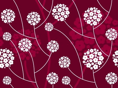 abstract seamless floral pattern Vectores