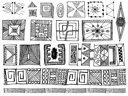 set of doodle vector elements