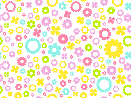 colorful pastel seamless floral background