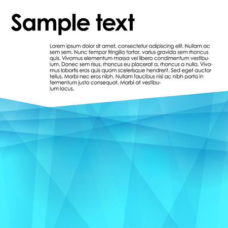 abstract blue geometric background Vectores