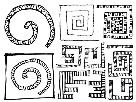set of doodle sketchy vector design elements  Ilustracja