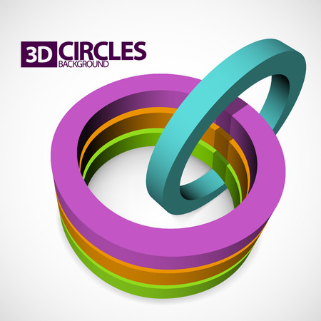 abstract 3D circles