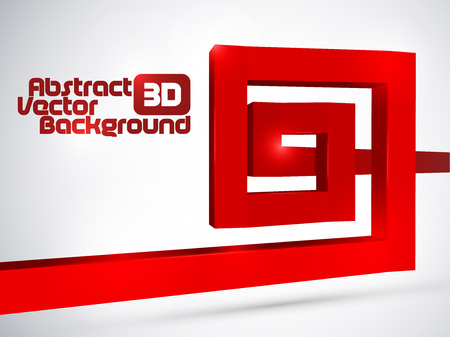 Abstract red 3D spiral background