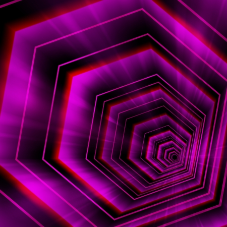 Abstract violet hexagon background