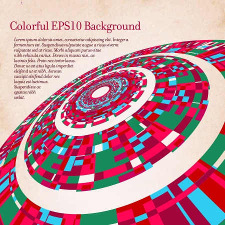 Colorful vintage circle background