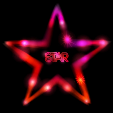 Colorful glowing star Ilustracja