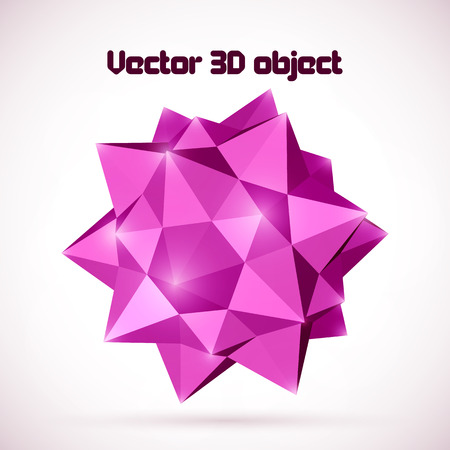abstract vector 3D object