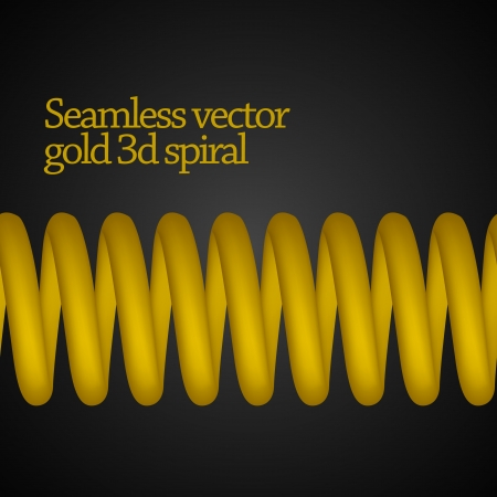 Vector seamless 3d spring   spiral Stock Vector - 22823477