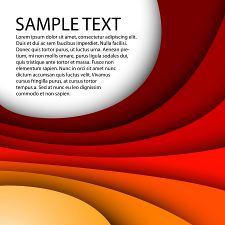 Abstract red background with custom text  Illustration