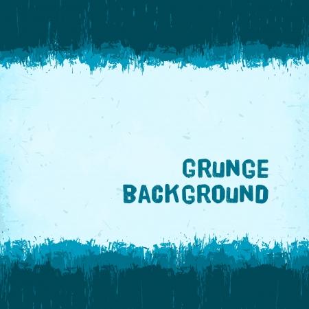 vintage blue winter grunge background  Illustration
