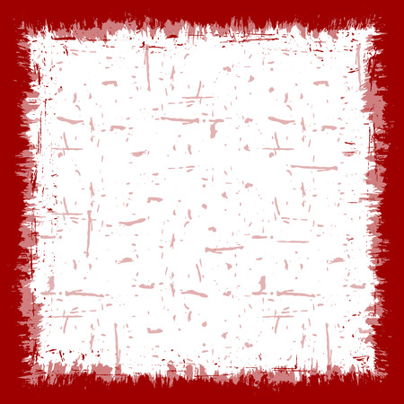 Vector abstract red grunge border background