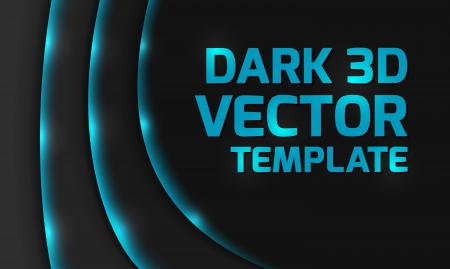 Abstract blue dark 3d design background  Vectores