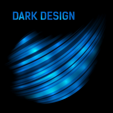 Abstract dark blue shining 3d background with custom text copyspace