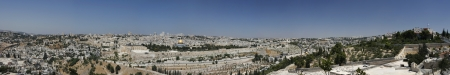 Panoramic view of Jerusalem Old City from Olive Mountain photo