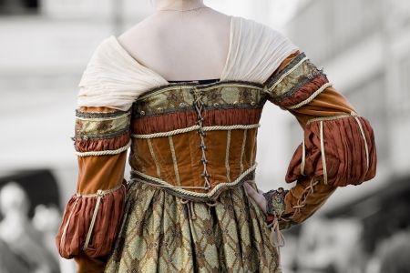 Back view of renaissance dress photo