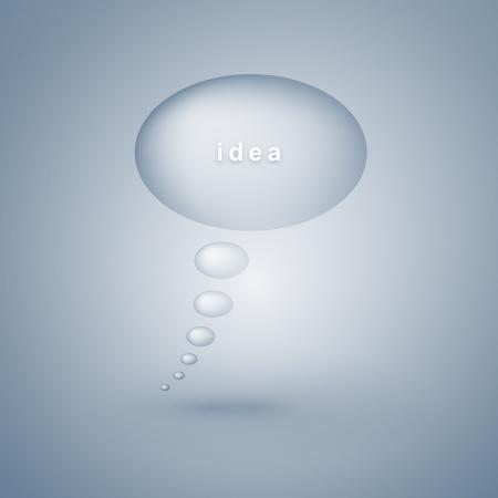 idea bubble: Idea bubble illustration on blue background