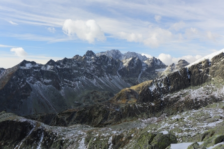 Picture of Great Cold Valley in High Tatras - part of Tatra mountains in Slovakia and highest mountain range in the Carpathian Mountains