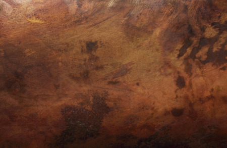 Detail view of an old scratched copper texture surface