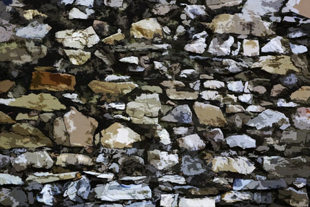 High resolution painted texture of stone wall