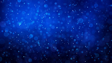Abstract winter background with snowflakes pattern toned blue.
