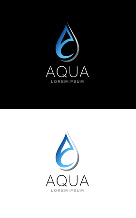 distillery: Symbol vector concept based on modern and abstract shape of a drop and the A letter. Illustration