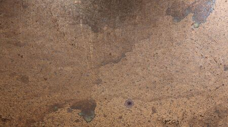 Detail view of an old scratched copper texture surface Standard-Bild