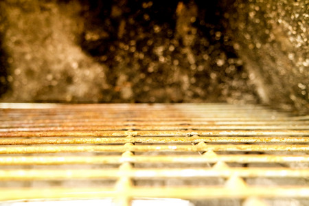 grate: Rusty grate for background - blurred