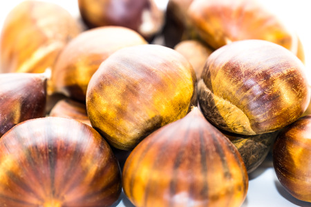 Sweet chestnuts isolated Stock Photo