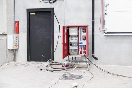Mobile construction site power panel