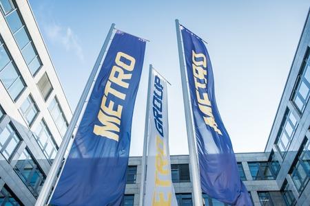 headquarter: Metro headquarter building in Duesseldorf Editorial
