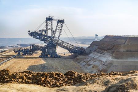 Huge excavator working in coal mine