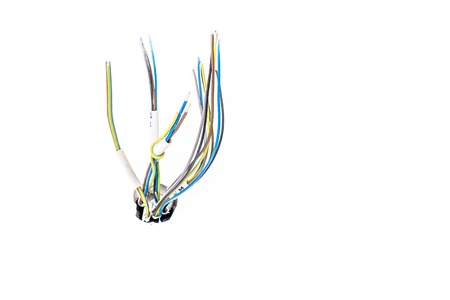 Isolated cable and wires Stock Photo
