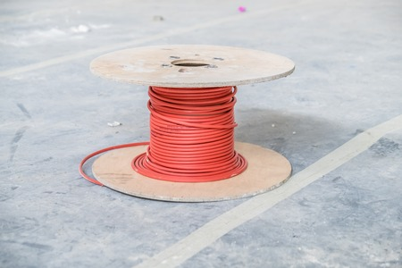 savety: Cable drum of fire alarm cable