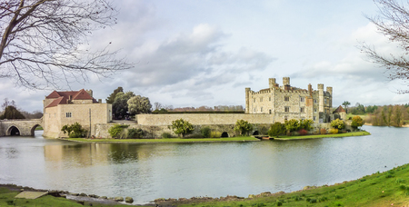 Leeds Castle Fortress England Stock Photo