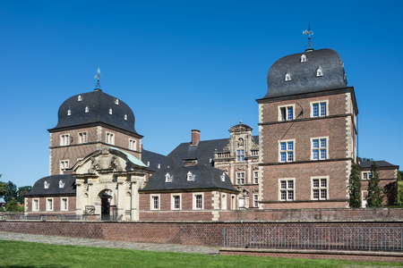 urban idyll: The historic Castle Ahaus in Westphalia, Germany
