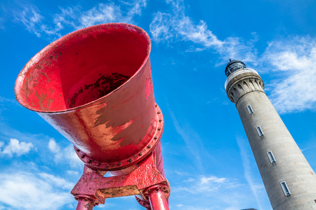 Foghorn of Ardnamurchan Lighthouse Stock Photo