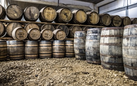 26: Glenbeg, Ardnamurchan  Scotland - May 26 2017 : Ardnamurchan distillery is producing whisky since 2014 and actually expanding their warehouses