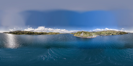 Aerial view of the coast between Gallanach and Oban, Argyll