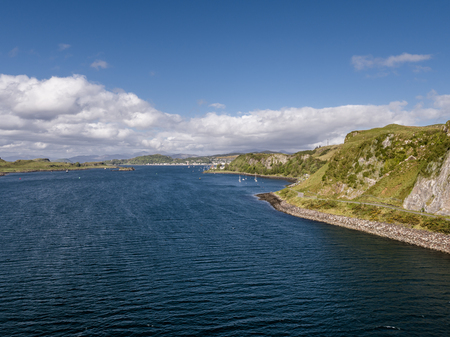 puffin: Aerial view of the coast between Gallanach and Oban, Argyll