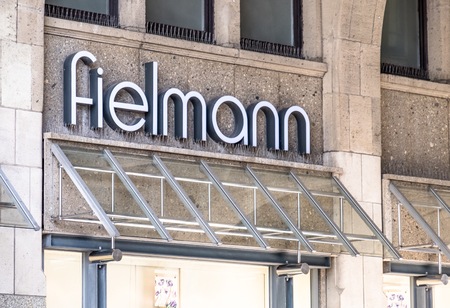 Hamburg / Germany - July 14, 2017: The Fielmann store is located close to the townhall in the city