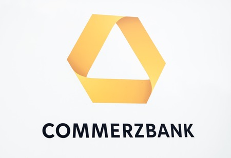 Hamburg  Germany - July 13 2017: Commerzbank AG is a global banking and financial services company founded in 1870 with its headquarter in Frankfurt