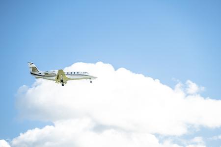 Duesseldorf  Germany - October 05 2017: Toyo Aviation Cessna 560XL Citation landing at Dusseldorf Airport